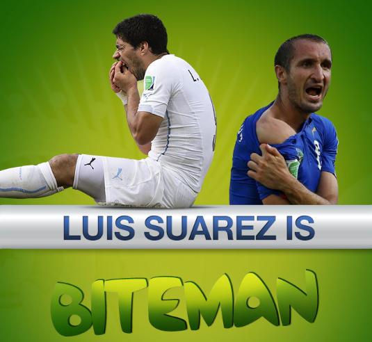 Luis Suarez biteman