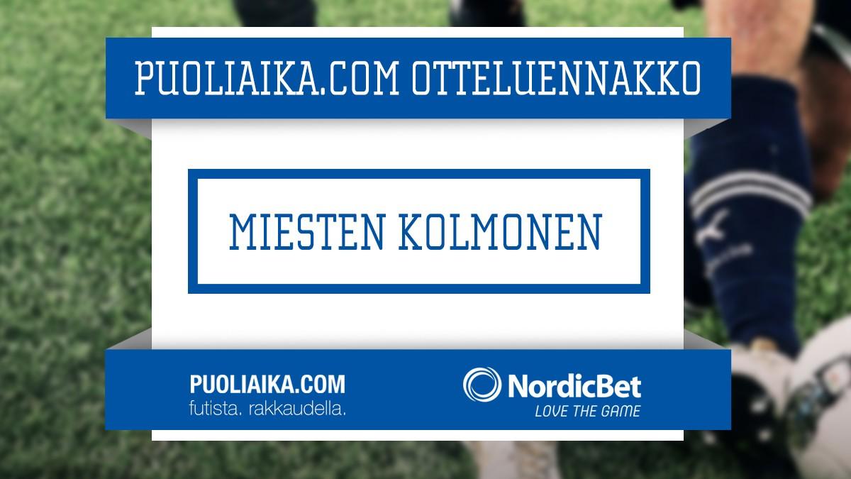 Otteluennakko: Miesten Kolmonen