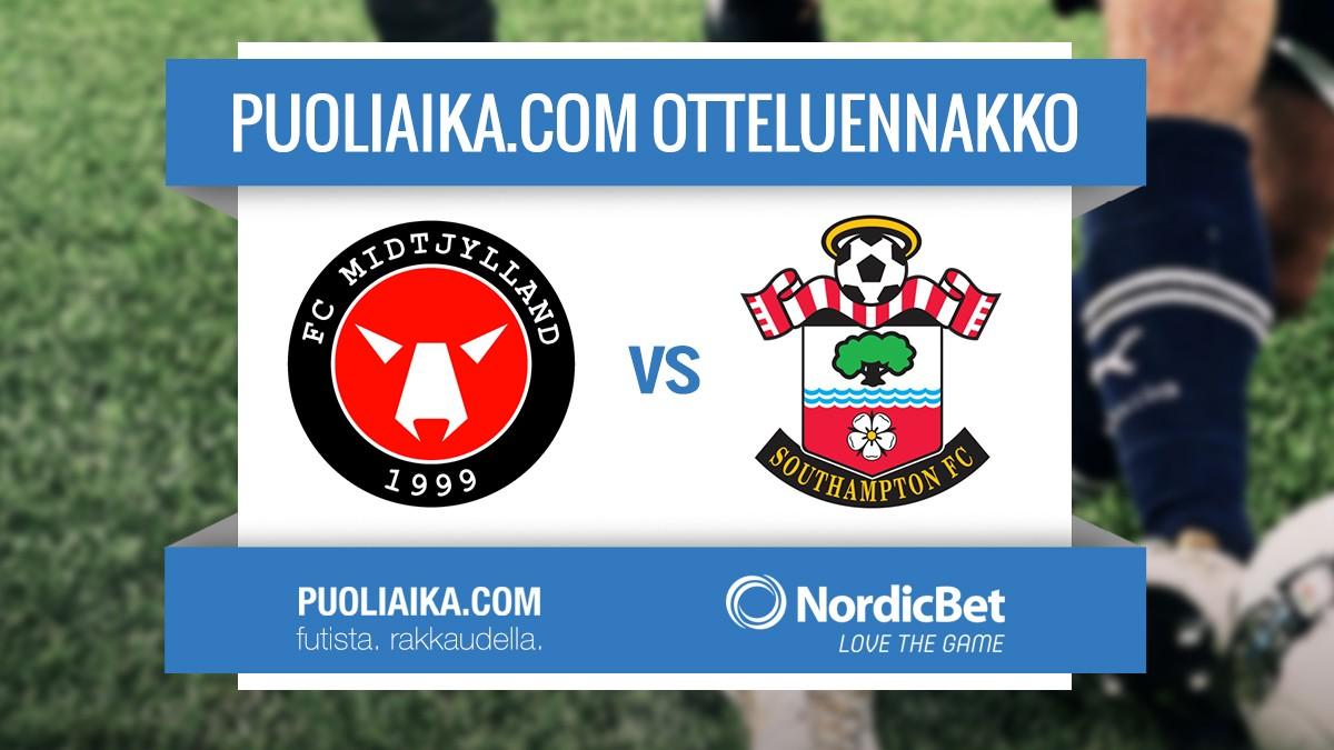otteluennakko-fc-midtjylland-southampton-jalkapallo-puoliaika.com