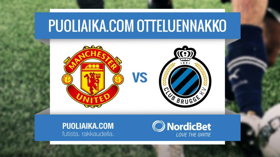 Otteluennakko: Manchester United - Club Brugge KV