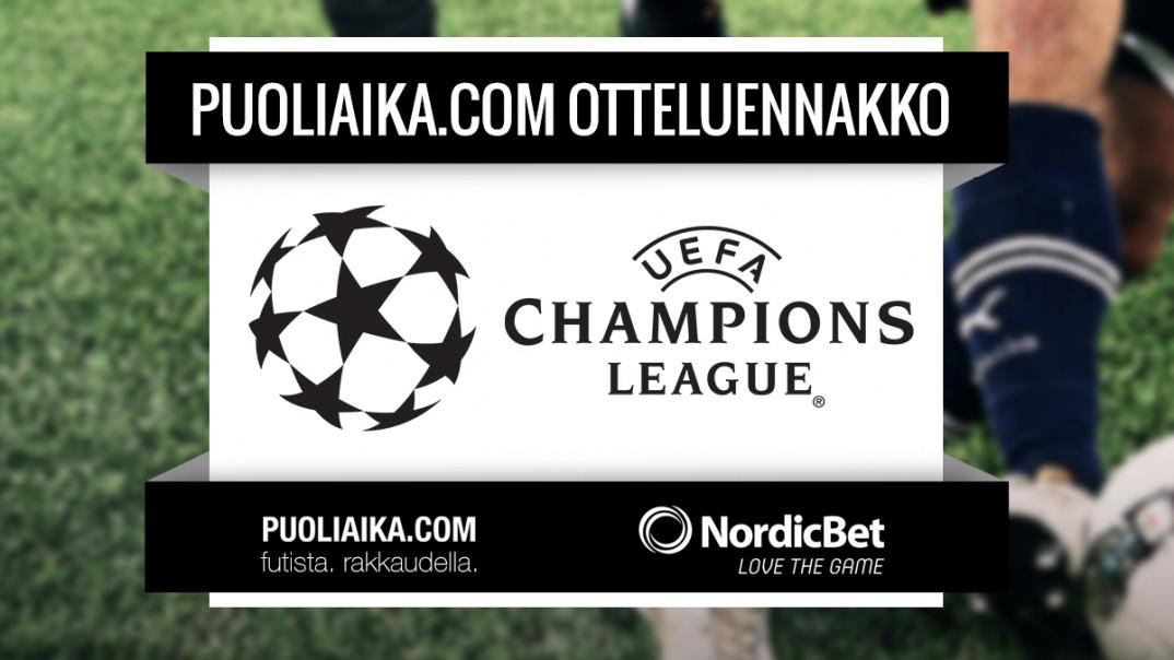 Otteluennakko: Mestarien Liiga, Jalkapallo, Puoliaika.com, Champions league, futis, fudis, futsal