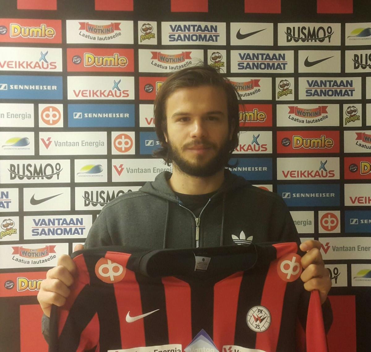 Brasilialainen Lucaus Kauffman siirtyi PK-35 Vantaan riveihin kaksivuotisella sopimuksella. Kuva: PK-35 Vantaa