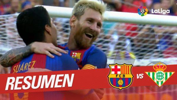 FC Barcelona jyräsi La Ligan avauskierroksella Real Betisin 6-2 – katso ottelun maalikooste