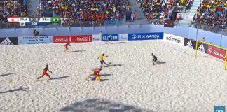 Brasilia beachfutiksen MM-finaali puoliaika