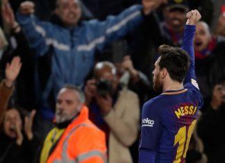 FC Barcelona v Deportivo Alaves messi messin puoliaika