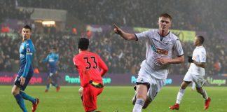 Swansea City v Arsenal puoliaika valioliigassa