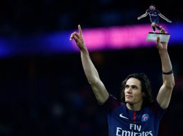 Paris Saint Germain edinson cavani puoliaika