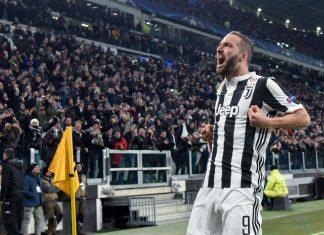 Juventus v Tottenham higuain puoliaika