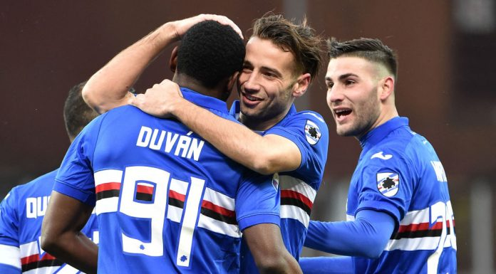 UC Sampdoria Udinese duvan zapata puoliaika
