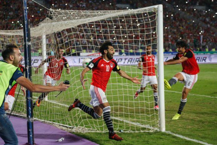 Egypt v Congo Mohamed Salah puoliaika