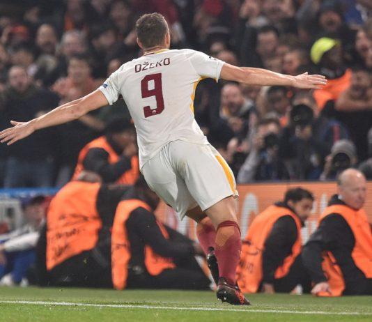 Chelsea v AS Roma edin dzeko puoliaika