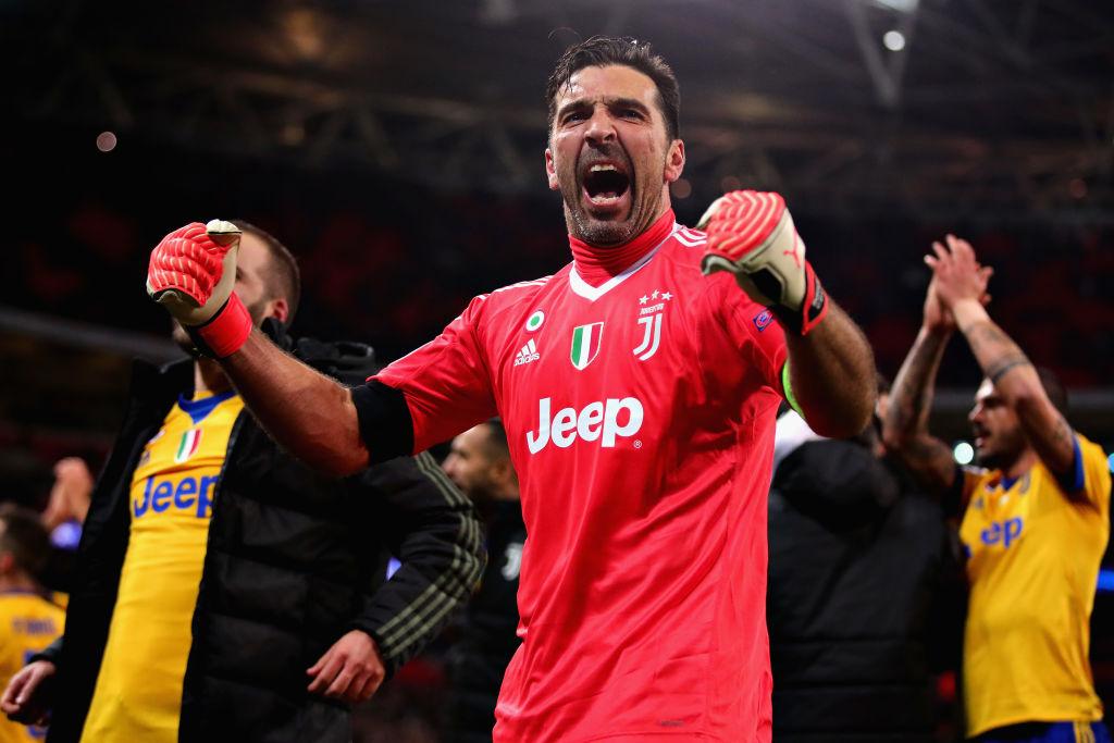 Tottenham Juventus buffon puoliaika