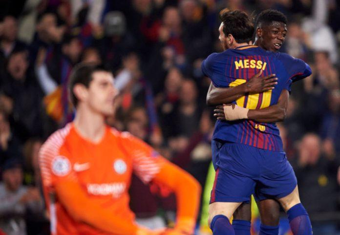 chelsean mestarien Barcelona v Chelsea messille messi puoliaika