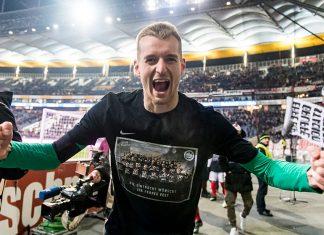 Eintracht Frankfurt lukas haradeckylle torjui puoliaika saksan