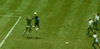 Diego Maradona jumalan käsi puoliaika
