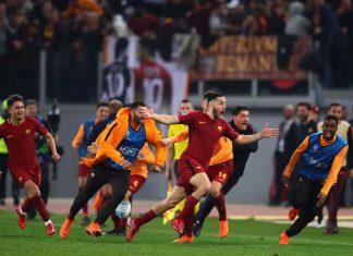 AS Roma v FC Barcelona puoliaika