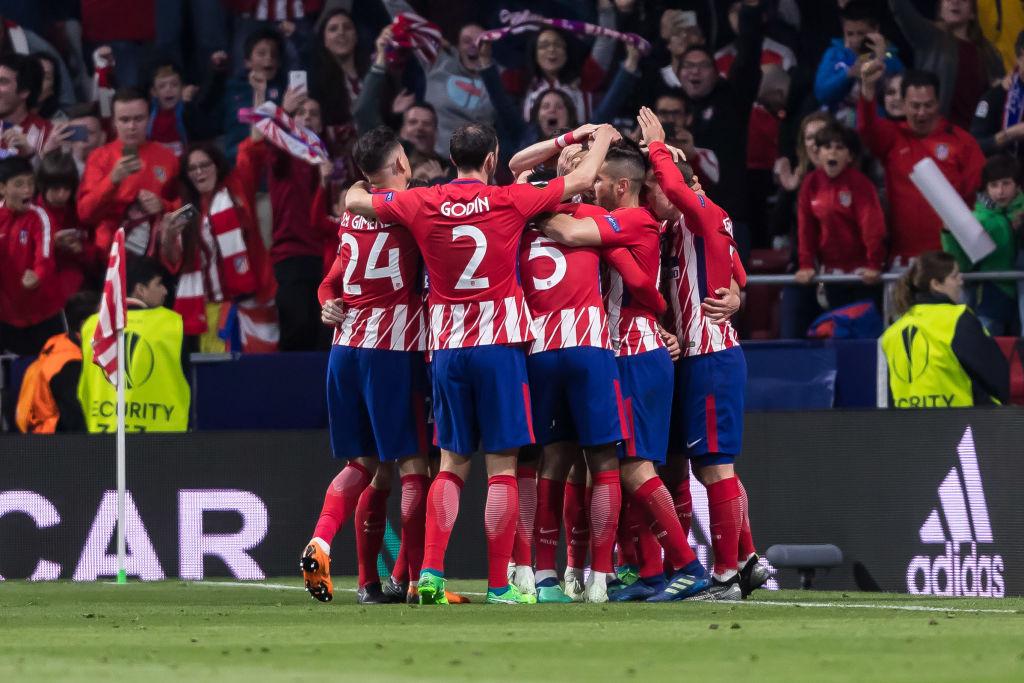 Atletico Madrid eurooppa-liigan finaaliin puoliaika