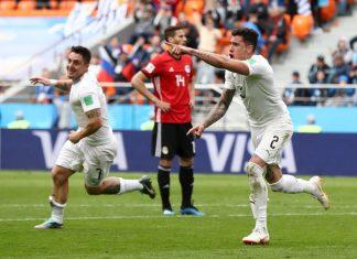 Egypt v Uruguay viime hetken voitto