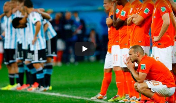 argentiina hollannin neljä vuotta sitten puoliaika