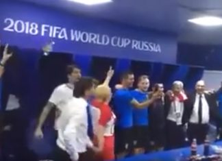 kroatian presidentti voitonjuhlissa